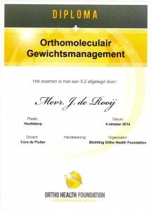 Diploma Orthomoleculair001